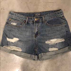 Light Was Jean Shorts, distressed